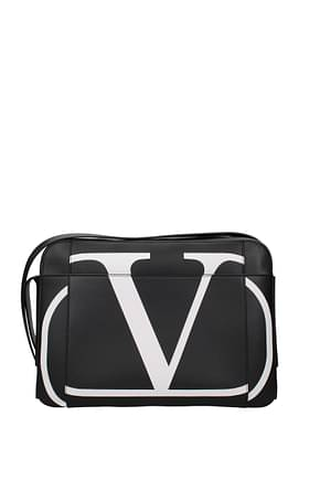 Valentino Garavani Crossbody Bag vlogo Men Leather Black