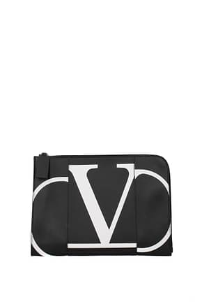 Valentino Garavani Clutches Men Leather Black