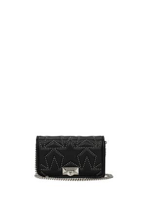 Jimmy Choo Clutches helia Women Leather Black