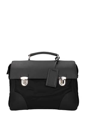 Prada Work bags Men Fabric  Black