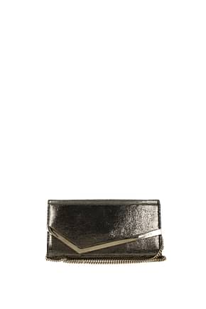 Jimmy Choo Clutches emmie Women Leather Gold