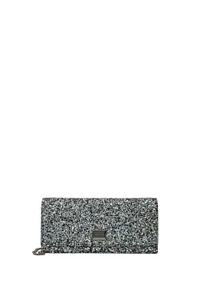 Jimmy Choo Clutches emma Women Glitter Blue