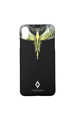 Marcelo Burlon Porta iPhone iphone xs max Uomo Plastica Nero