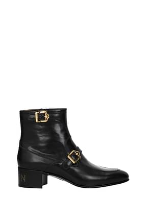 Gucci Ankle Boot Men Leather Black