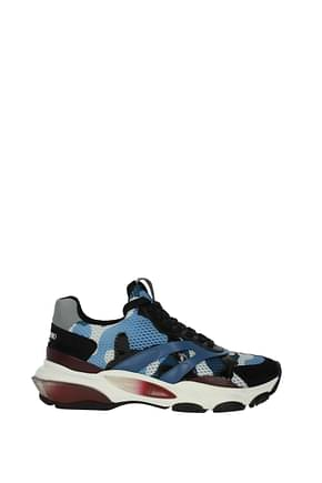 Valentino Garavani Sneakers Men Fabric  Blue