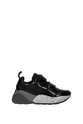 Stella McCartney Sneakers Femme Eco Cuir Verni Noir
