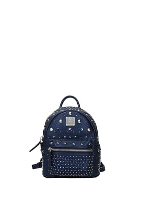 MCM Backpacks and bumbags Women Leather Blue