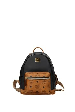 MCM Backpacks and bumbags Women Leather Black Camel
