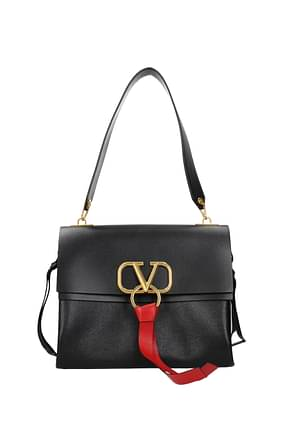 Valentino Garavani Shoulder bags vlogo Women Leather Black