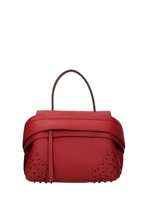 Tod's Handbags Women Leather Red