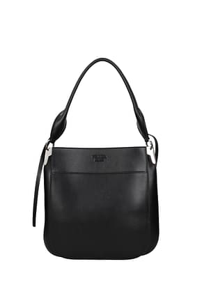 Prada Shoulder bags Women Leather Black
