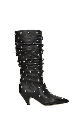 Valentino Garavani Boots Women Leather Black