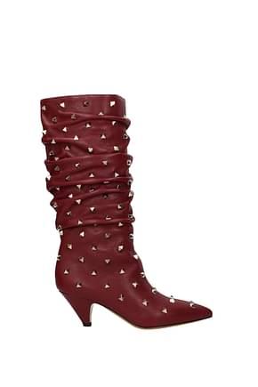 Valentino Garavani Boots Women Leather Red