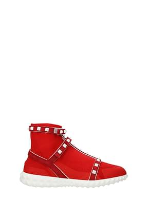 Valentino Garavani Ankle boots Women Fabric  Red