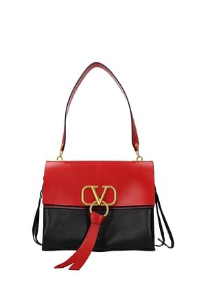 Valentino Garavani Shoulder bags vlogo Women Leather Black Red