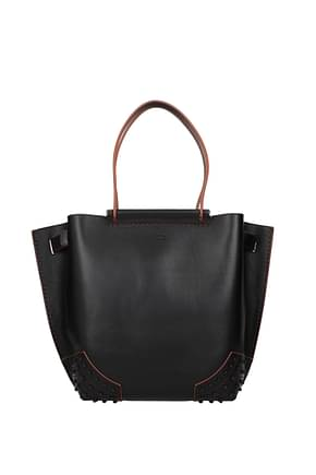 Tod's Handbags Women Leather Black Canyon