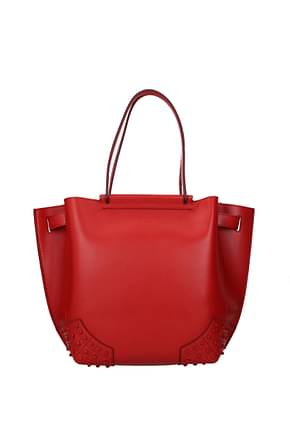 Tod's Handbags Women Leather Red Grapes