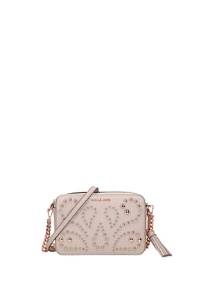 Michael Kors Crossbody Bag Women Leather Pink Soft Pink