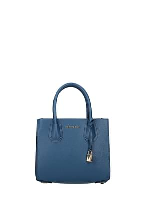Michael Kors Handbags mercer md Women Leather Blue Dk Chambray