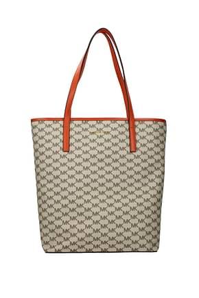 Michael Kors Shoulder bags emry lg Women Fabric  Beige Orange