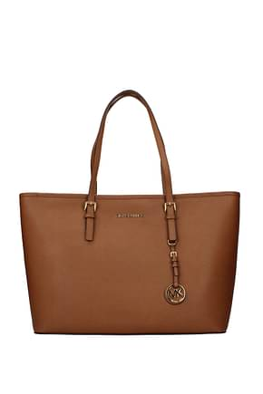 Michael Kors Shoulder bags jet set travel md Women Leather Brown Luggage