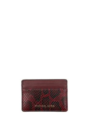 Michael Kors Document holders Women Leather Red Maroon