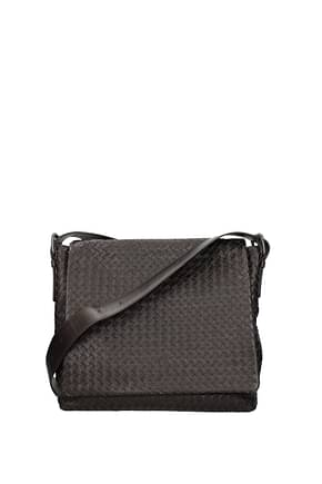 Bottega Veneta Crossbody Bag Men Leather Brown