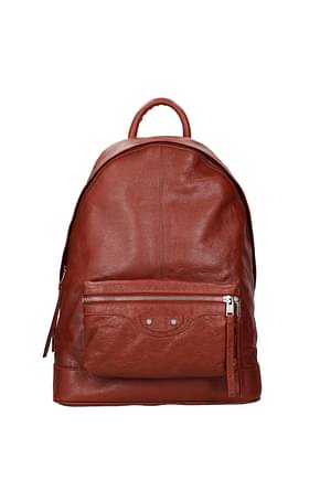 Balenciaga Backpack and bumbags Men Leather Brown