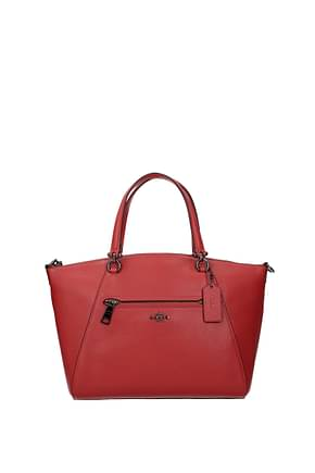 Coach Handbags Women Leather Red