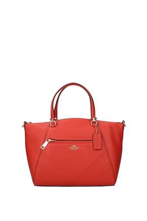Coach Handbags prairie satchel Women Leather Orange