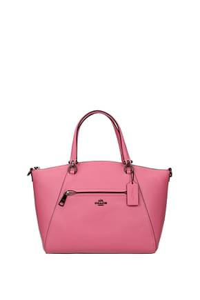 Coach Handbags Women Leather Pink