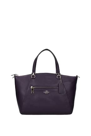 Coach Handbags Women Leather Violet Violet