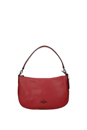 Coach Shoulder bags pebble chelsea Women Leather Red