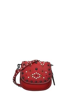 Coach Crossbody Bag wtn rv saddle 17 Women Leather Red