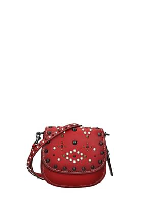 Coach Crossbody Bag wtn rv saddle 17 Women Leather Red