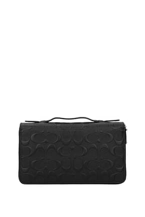Coach Wallets Men Leather Black