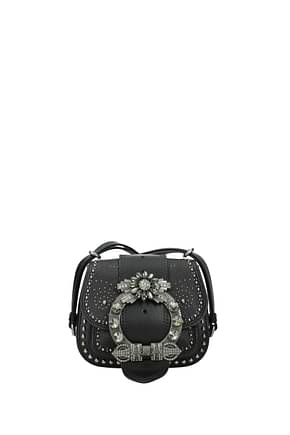 Miu Miu Shoulder bags Women Leather Black