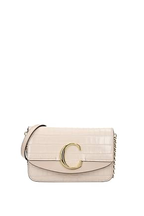 Chloé Crossbody Bag Women Leather Pink