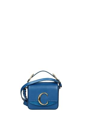 Chloé Handbags Women Leather Blue