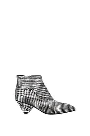 Balmain Ankle boots Women Rhinestone Silver
