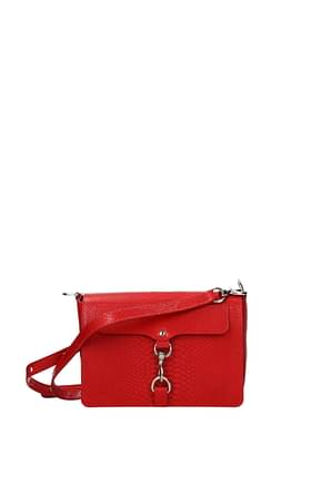 Rebecca Minkoff Crossbody Bag Women Leather Red