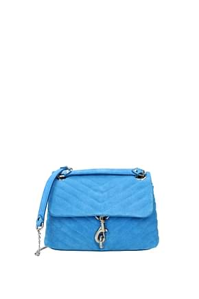 Rebecca Minkoff Shoulder bags Women Suede Blue
