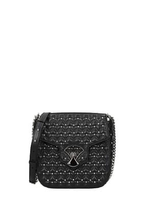 Bulgari Crossbody Bag Women Leather Black