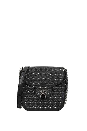Bulgari Crossbody Bag Women Leather Black