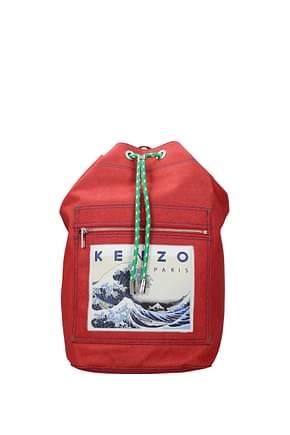 Kenzo Sacs à dos et Bananes memento collection Homme Tissu Rouge