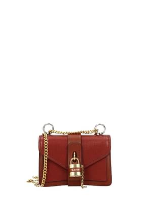 Chloé Crossbody Bag Women Leather Red