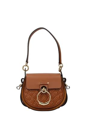 Chloé Handbags Women Leather Brown
