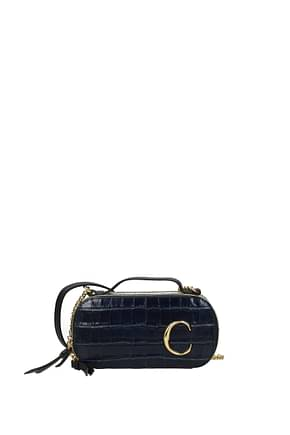Chloé Crossbody Bag Women Leather Blue