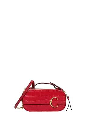 Chloé Crossbody Bag Women Leather Fuchsia