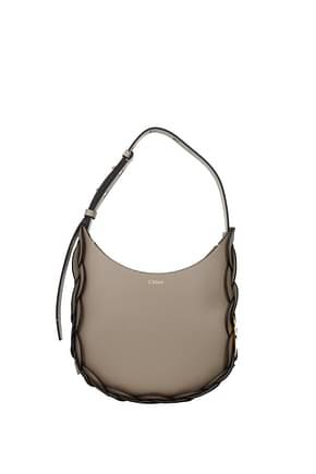 Chloé Crossbody Bag darrly Women Leather Gray Seal